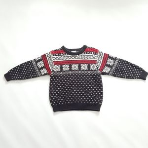 Children's Unisex Knit Fair Isle Christmas Sweater